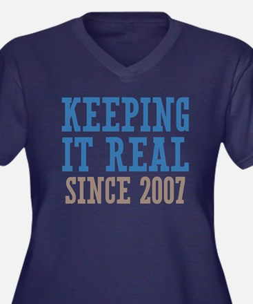Keeping It Real Since 2007 Women's Plus Size V-Nec