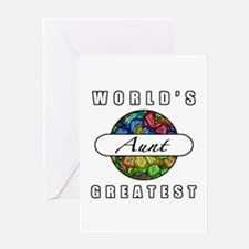 World's Greatest Aunt (Butterflies) Greeting Card