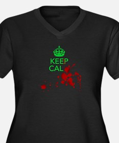 Keep Calm - Zombies - GREEN Plus Size T-Shirt