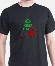 Keep Calm - Zombies - GREEN T-Shirt