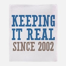 Keeping It Real Since 2002 Throw Blanket