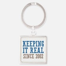 Keeping It Real Since 2002 Square Keychain