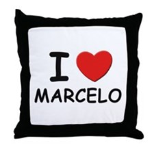 I love Marcelo Throw Pillow
