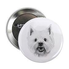White West Highland Terrier Button