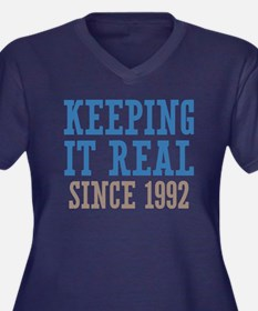 Keeping It Real Since 1992 Women's Plus Size V-Nec