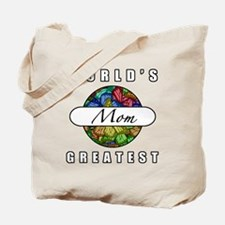 World's Greatest Mom (Butterflies) Tote Bag
