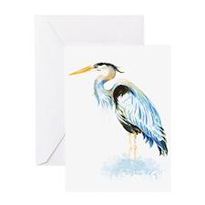 Watercolor Great Blue Heron Bird Greeting Card