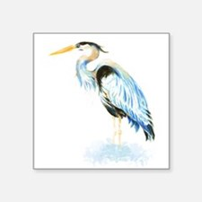 Watercolor Great Blue Heron Bird Sticker