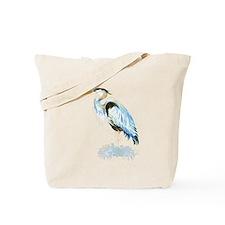 Watercolor Great Blue Heron Bird Tote Bag