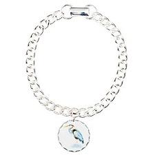 Watercolor Great Blue Heron Bird Bracelet