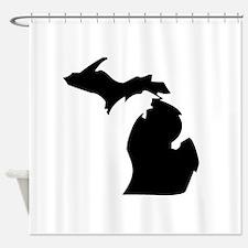 State of Michigan Shower Curtain