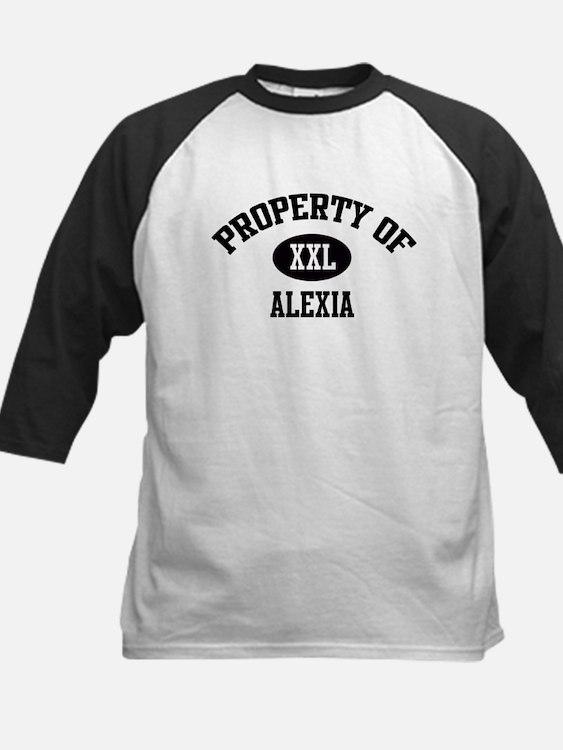 Property of Alexia Kids Baseball Jersey