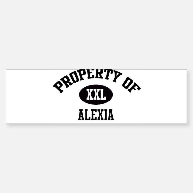 Property of Alexia Bumper Car Car Sticker