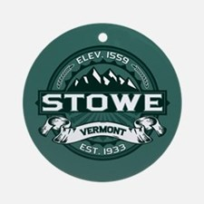 "Stowe ""Vermont Green"" Ornament (Round)"