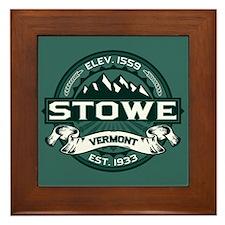 """Stowe """"Vermont Green"""" Framed Tile"""