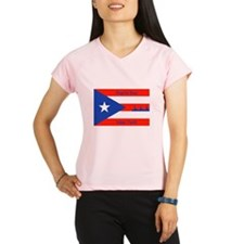 Puerto Rico New York Flag Lady Liberty Peformance