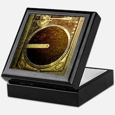 Grunge Dj Turntable Keepsake Box