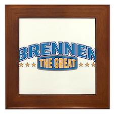The Great Brennen Framed Tile