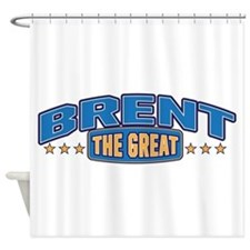 The Great Brent Shower Curtain