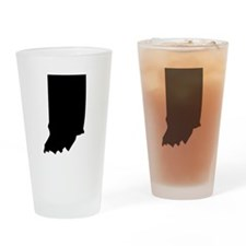 State of Indiana Drinking Glass