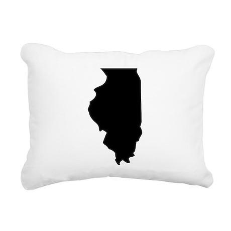 State of Illinois Rectangular Canvas Pillow