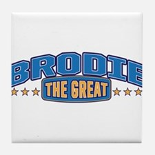 The Great Brodie Tile Coaster