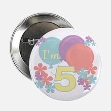 5th Pastel Birthday Button