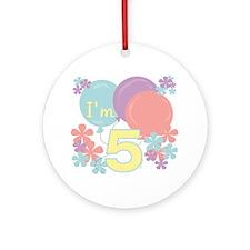 5th Pastel Birthday Ornament (Round)