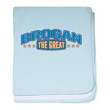 The Great Brogan baby blanket