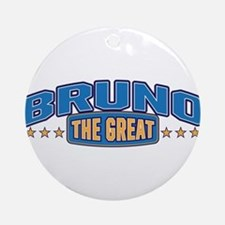 The Great Bruno Ornament (Round)