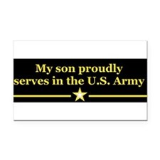 Cute Proud army mom of son Rectangle Car Magnet