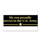 "Proud army mom 3"" x 5"""