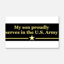 Cute Army soldier Rectangle Car Magnet