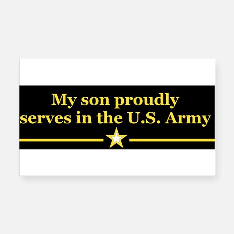 Cute Soldier Rectangle Car Magnet