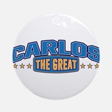The Great Carlos Ornament (Round)
