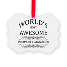 World's Most Awesome Property Manager Ornament