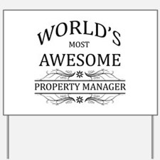 World's Most Awesome Property Manager Yard Sign