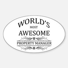 World's Most Awesome Property Manager Decal