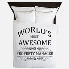 World's Most Awesome Property Manager Queen Duvet