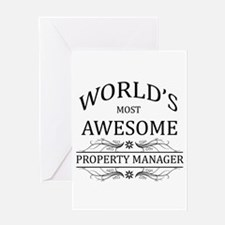 World's Most Awesome Property Manager Greeting Car