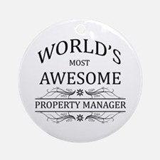 World's Most Awesome Property Manager Ornament (Ro