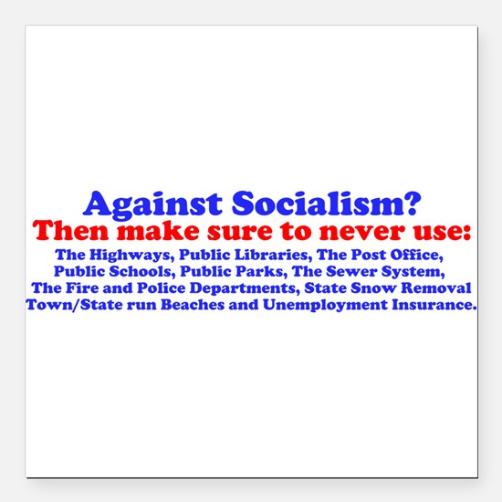 "Cute Socialism Square Car Magnet 3"" x 3"""
