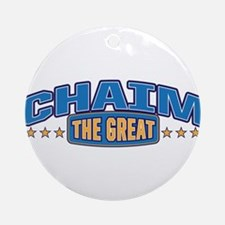 The Great Chaim Ornament (Round)