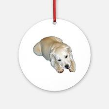 white pup Ornament (Round)