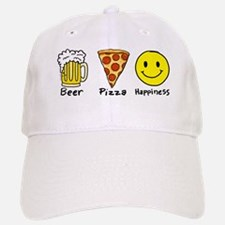Beer Pizza Happiness Baseball Baseball Cap