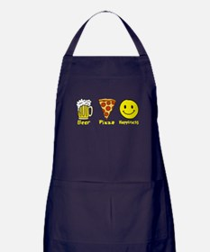 Beer Pizza Happiness Apron (dark)