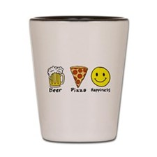 Beer Pizza Happiness Shot Glass