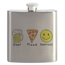 Beer Pizza Happiness Flask