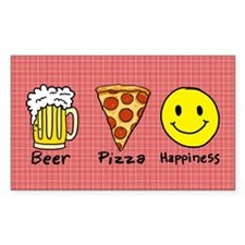 Beer Pizza Happiness Decal