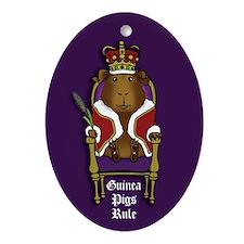 Guinea Pigs Rule Oval Ornament
